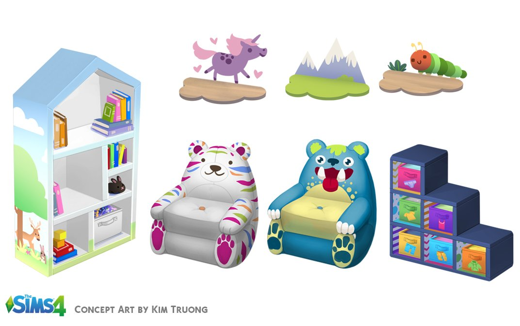 The Sims 4 Toddler Concept Art By Various Artists