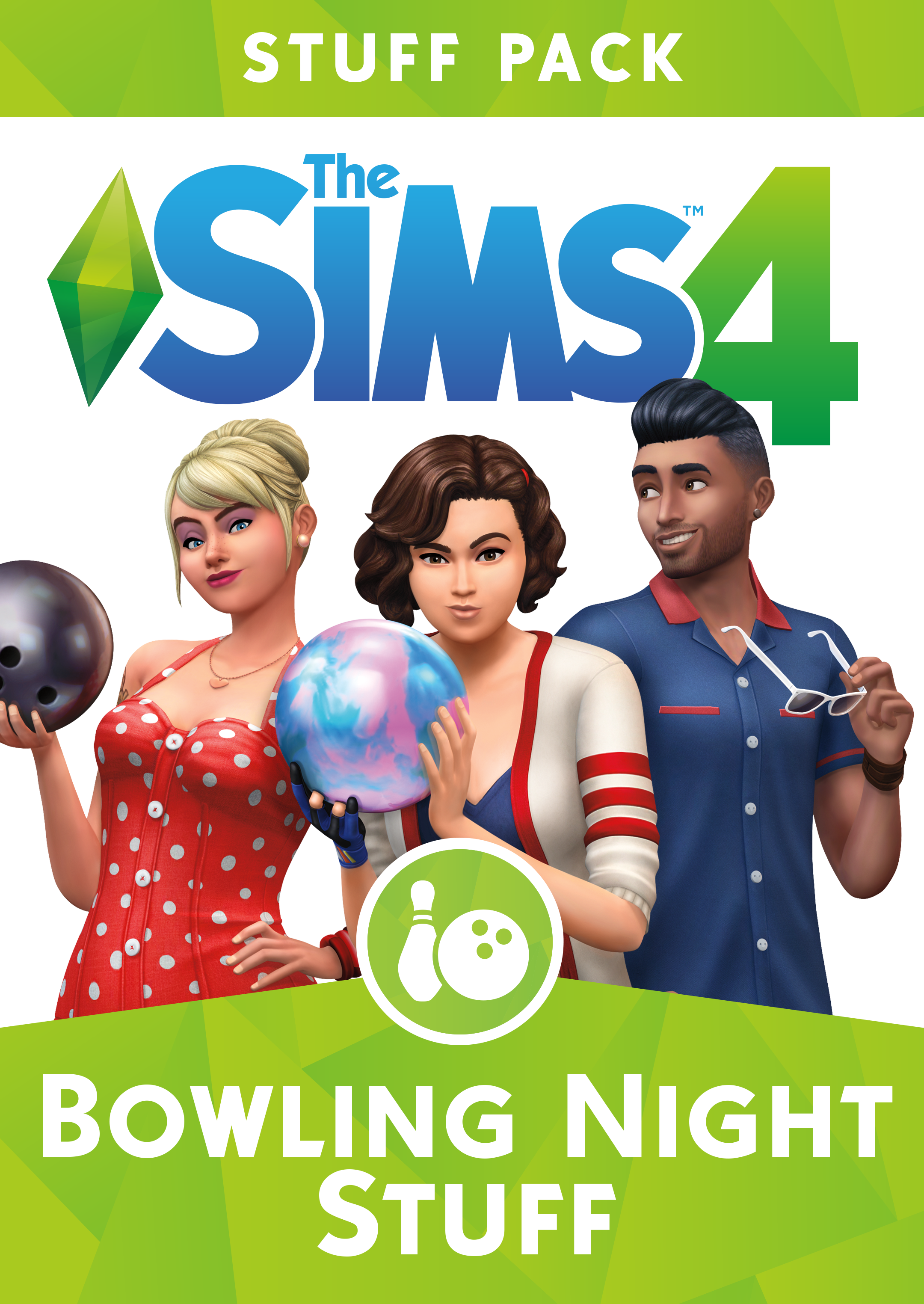 the sims 4 bowling night official logo box art. Black Bedroom Furniture Sets. Home Design Ideas