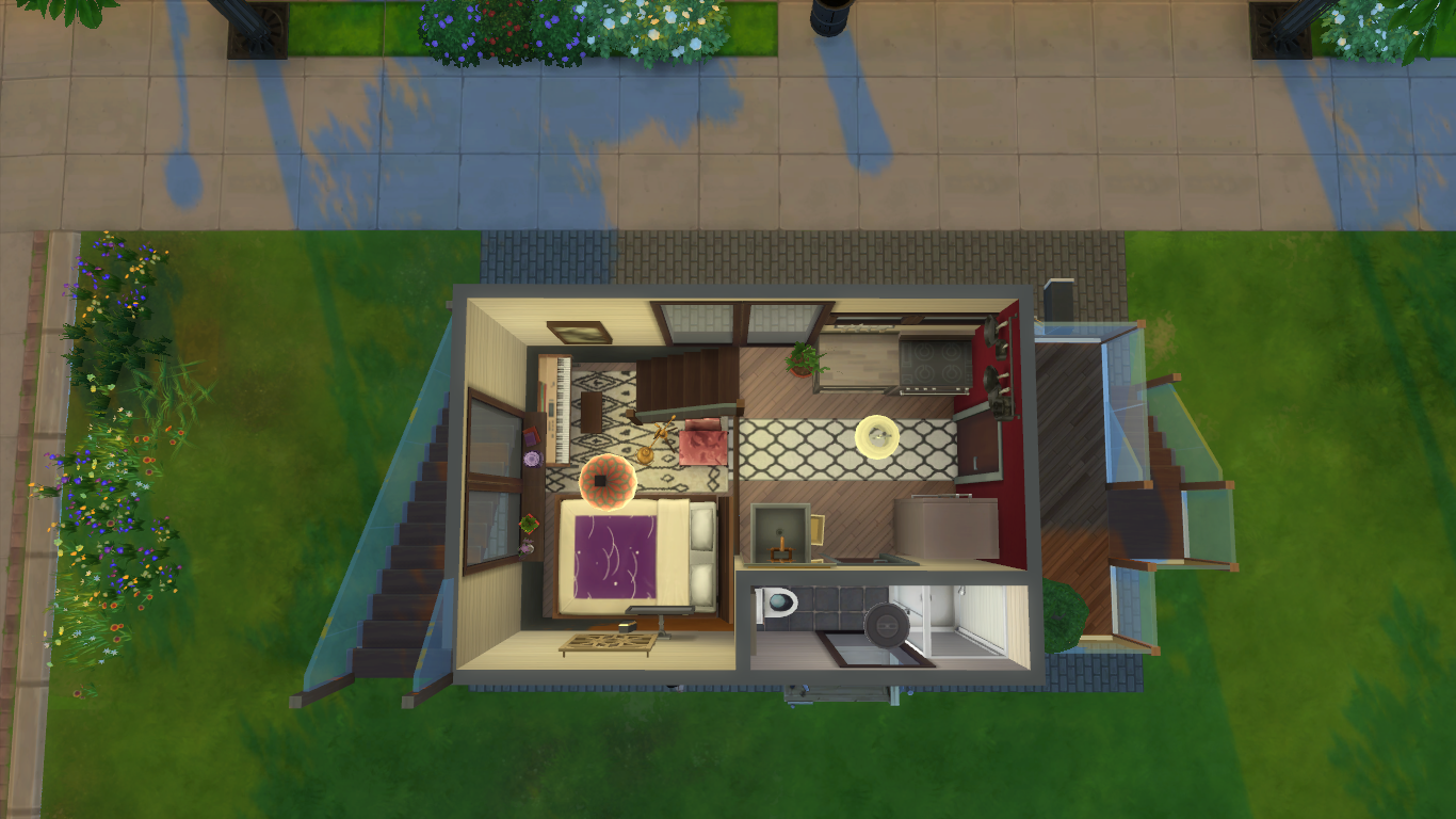 tips for building tiny houses in the sims 4 simsvip. Black Bedroom Furniture Sets. Home Design Ideas