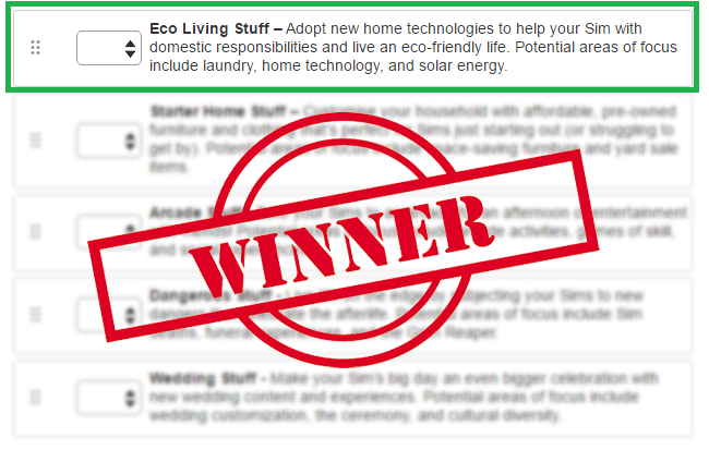 Well, on April 10th we'll kick off another big vote to determine the art style for our eco living theme. Eco living means different things to different ...