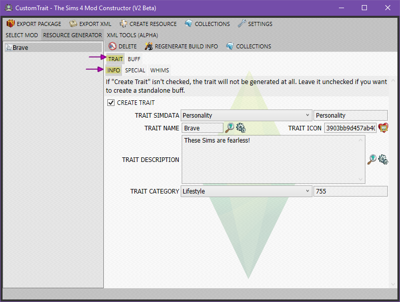 Create a Mod – Custom Trait (Part I - The Basics)   SimsVIP