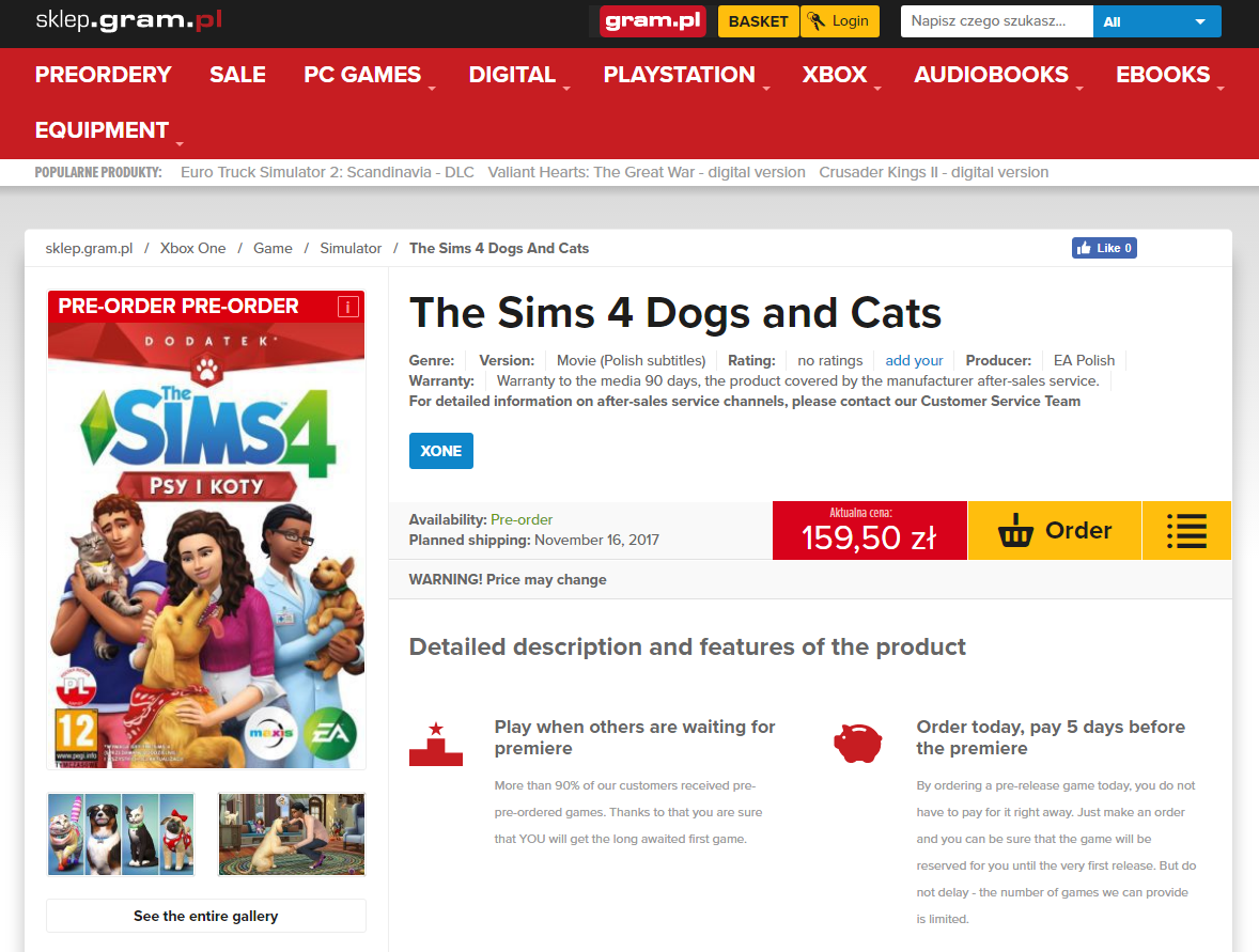Sims  Cats And Dogs For Console