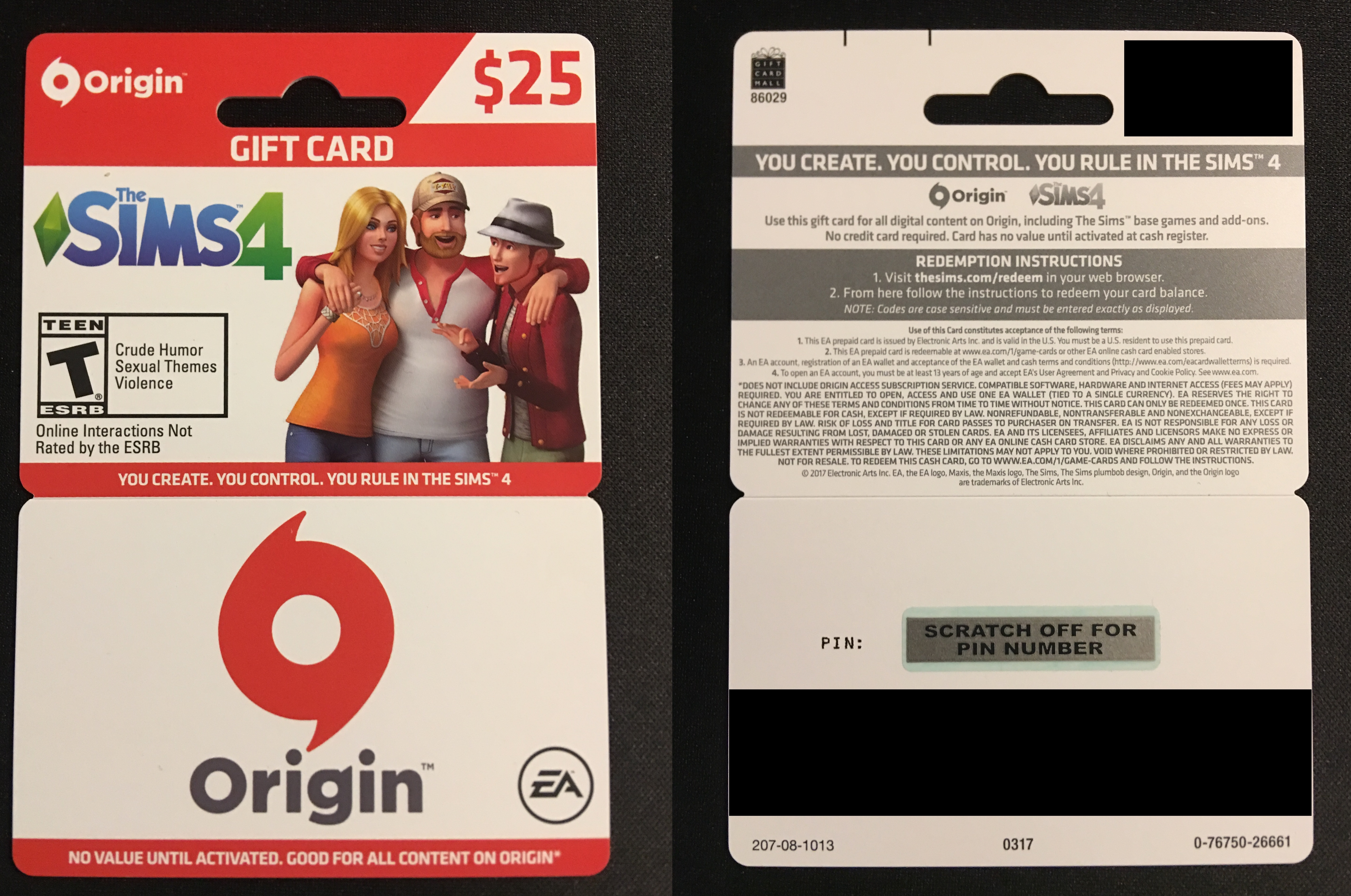 Join EA Access Join Origin Access Cash Cards. REDEEM YOUR EA CASH CARD. Cash In. Start Shopping. Redeem your code, spend your funds and get some great games on Origin. Origin is EA's gaming service for buying and playing amazing games. Chat with friends, broadcast your gameplay and get exclusive deals and bonus content.