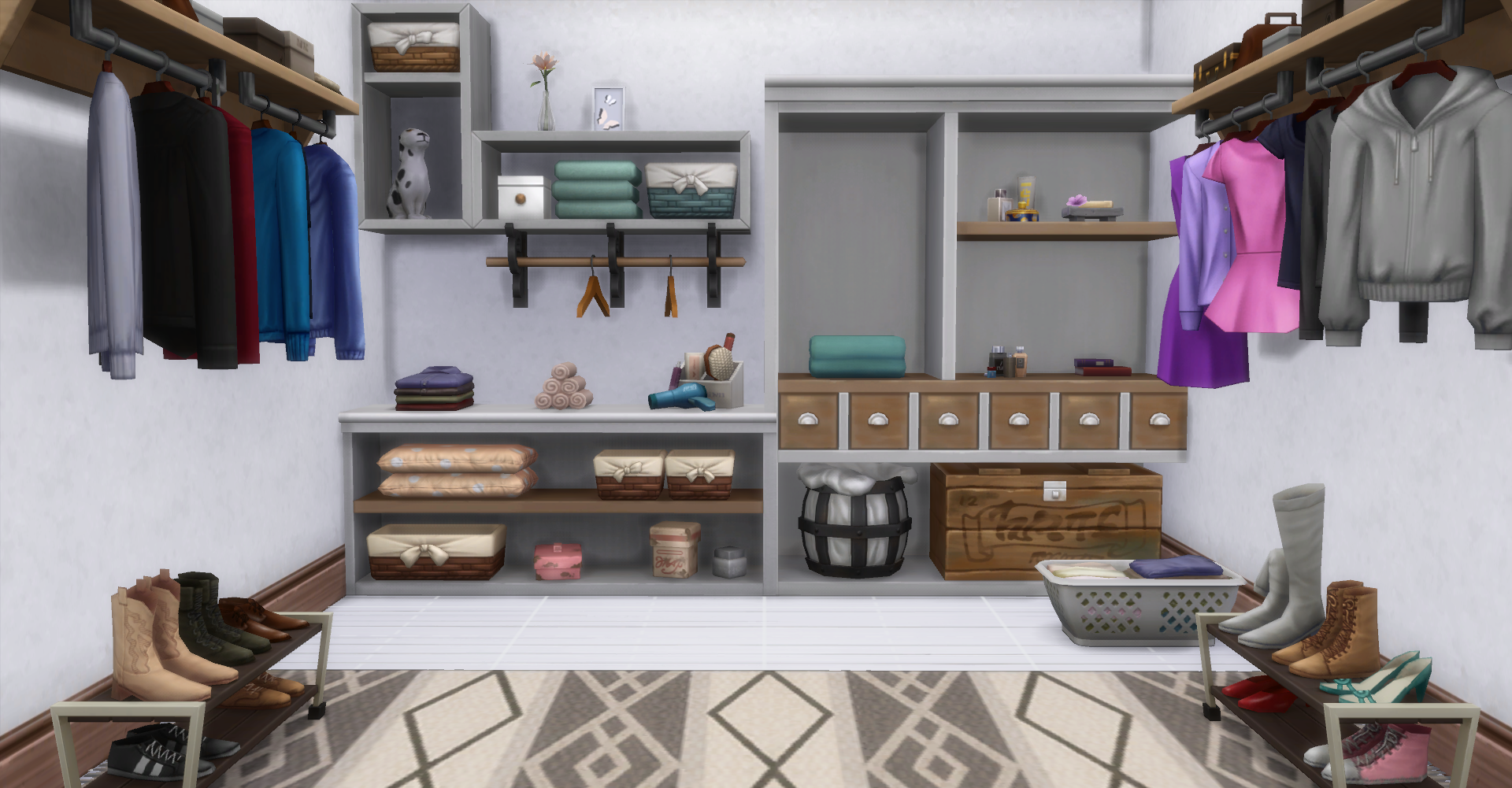 Inspiration Corner Decorating With Laundry Day Sp Items Simsvip,Very Small Narrow Bathroom Ideas