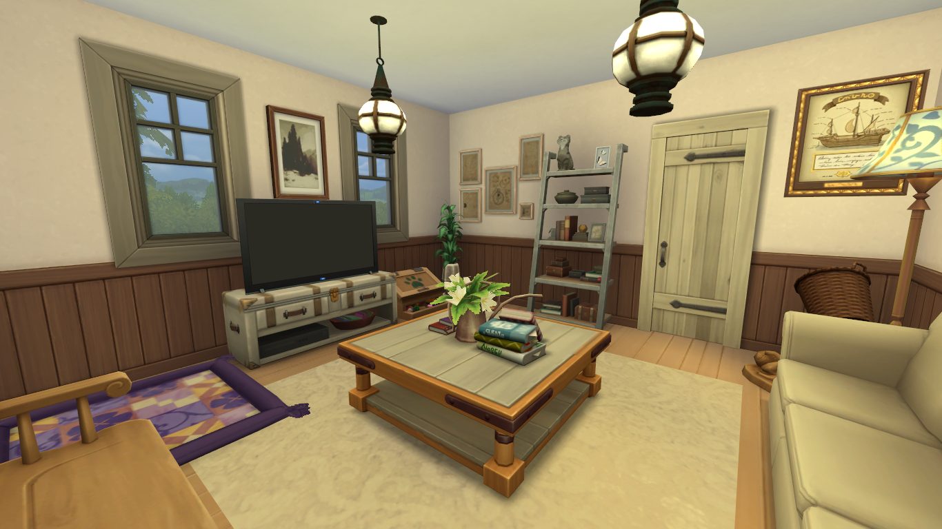 Build With Me: Rustic Home Using The Sims 4 Laundry Day