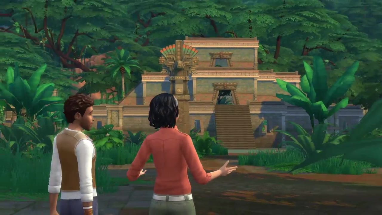 the sims 4 jungle adventure official trailer 0620 simsvip. Black Bedroom Furniture Sets. Home Design Ideas