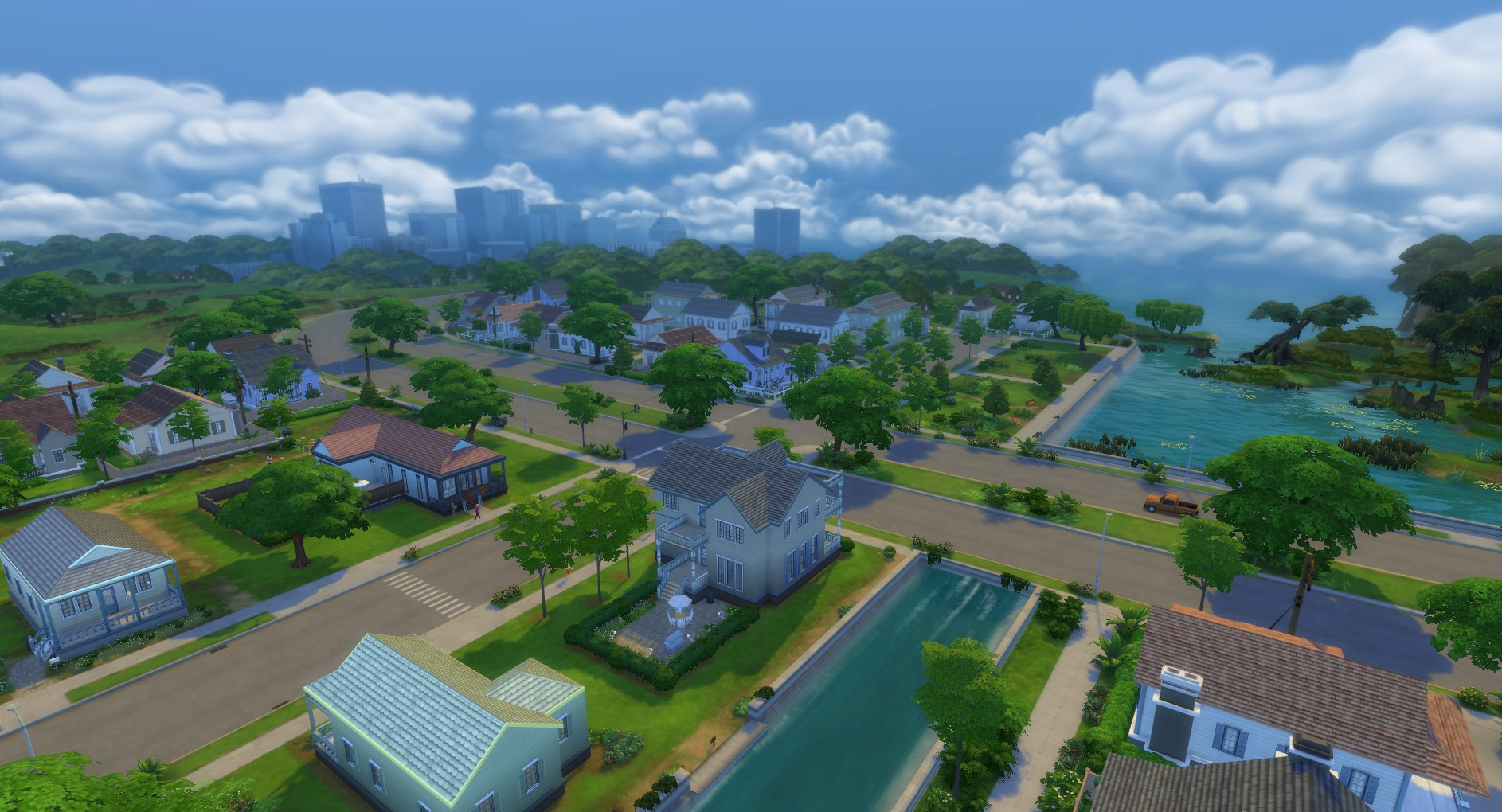 Four kids two dogs and a cat simsvip for Willow creek mansion