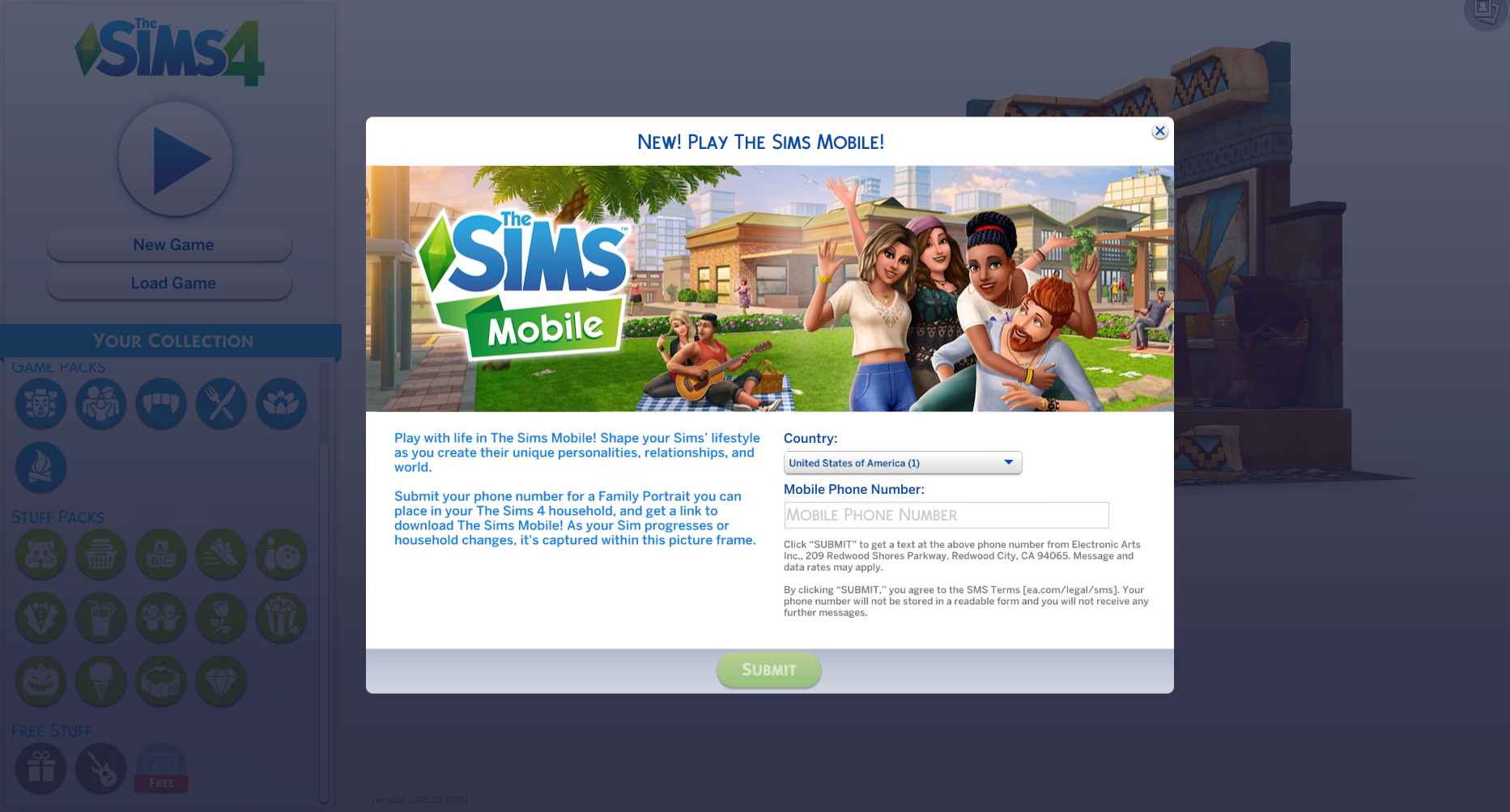 The Sims 4: Download The Sims Mobile & Redeem a Free