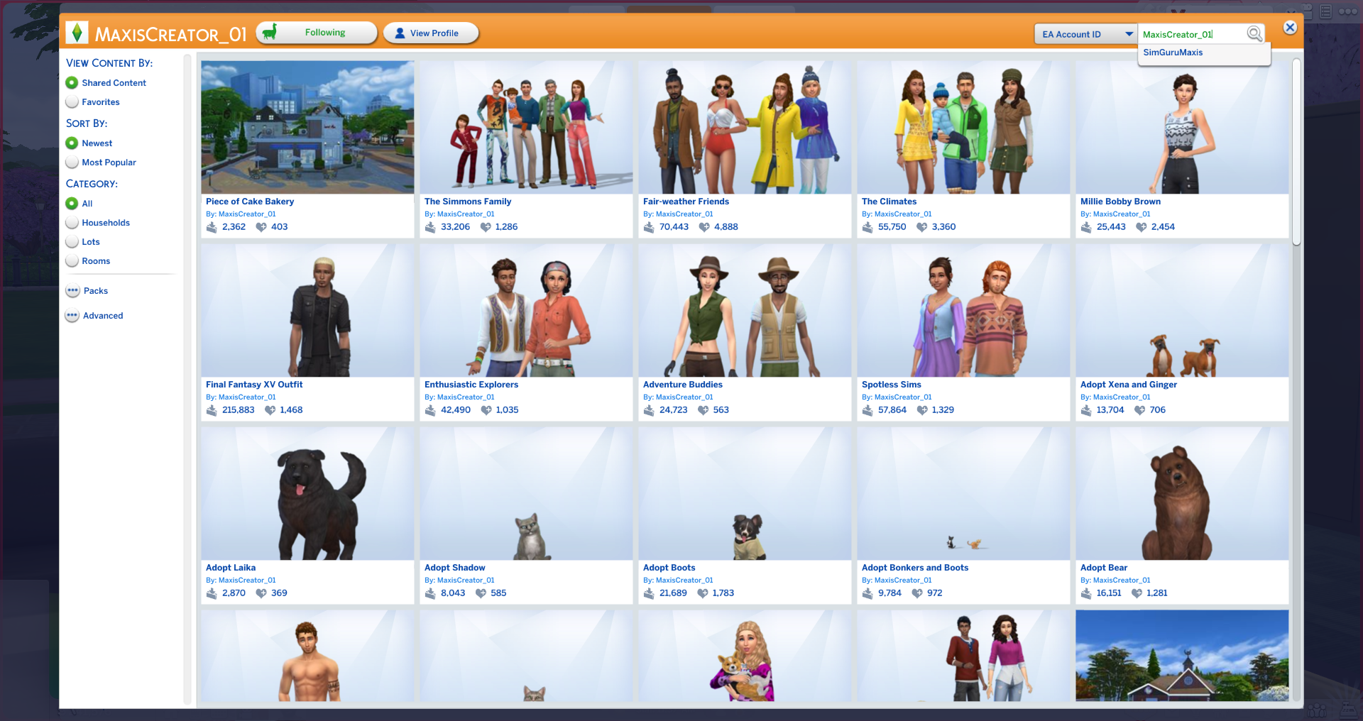 Gallery Problem — The Sims Forums