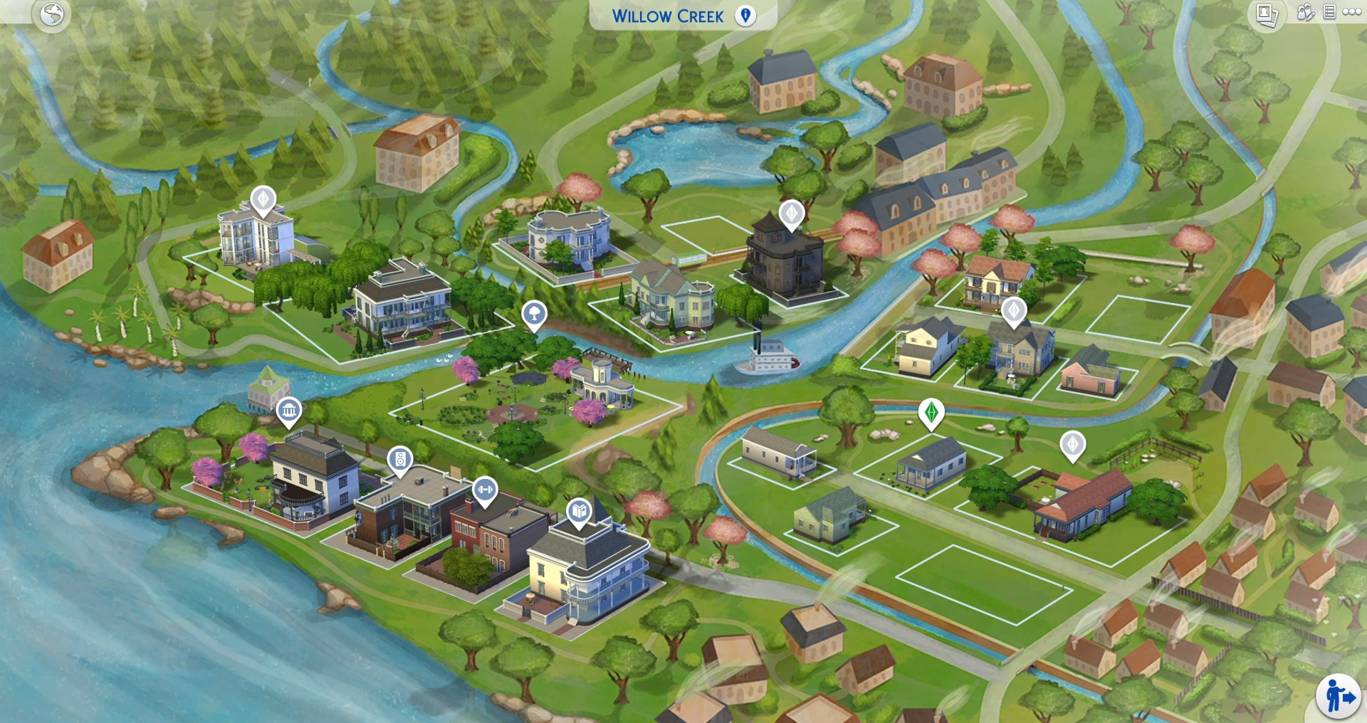 Download These Beautiful World Map Replacements for The Sims 4 | SimsVIP