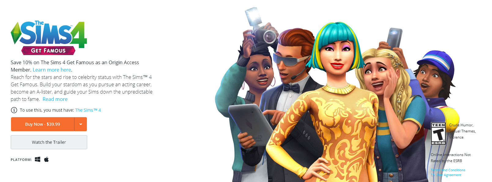 The Sims 4 Get Famous Now Available at Origin | SimsVIP