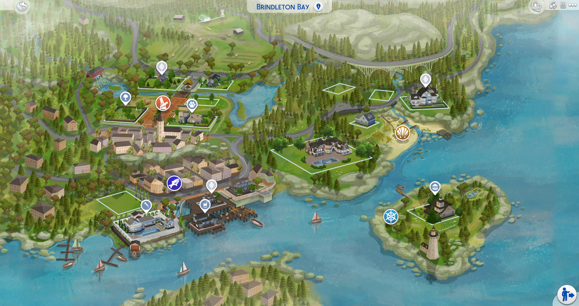 The Sims 4: World Map Replacements for ALL Worlds Now