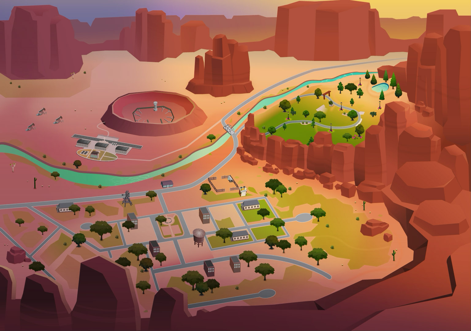 New Sims 4 Pack: Strangerville now available on zlOrigin World-Map-StrangerVille