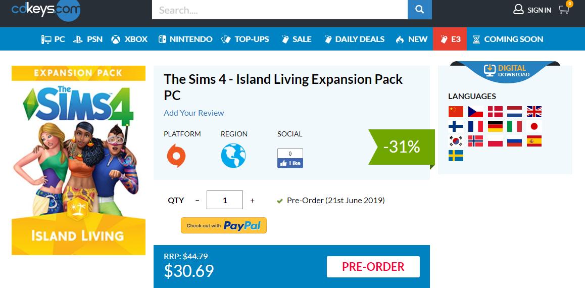 By Photo Congress || Origin Promo Code 2019 Sims 4