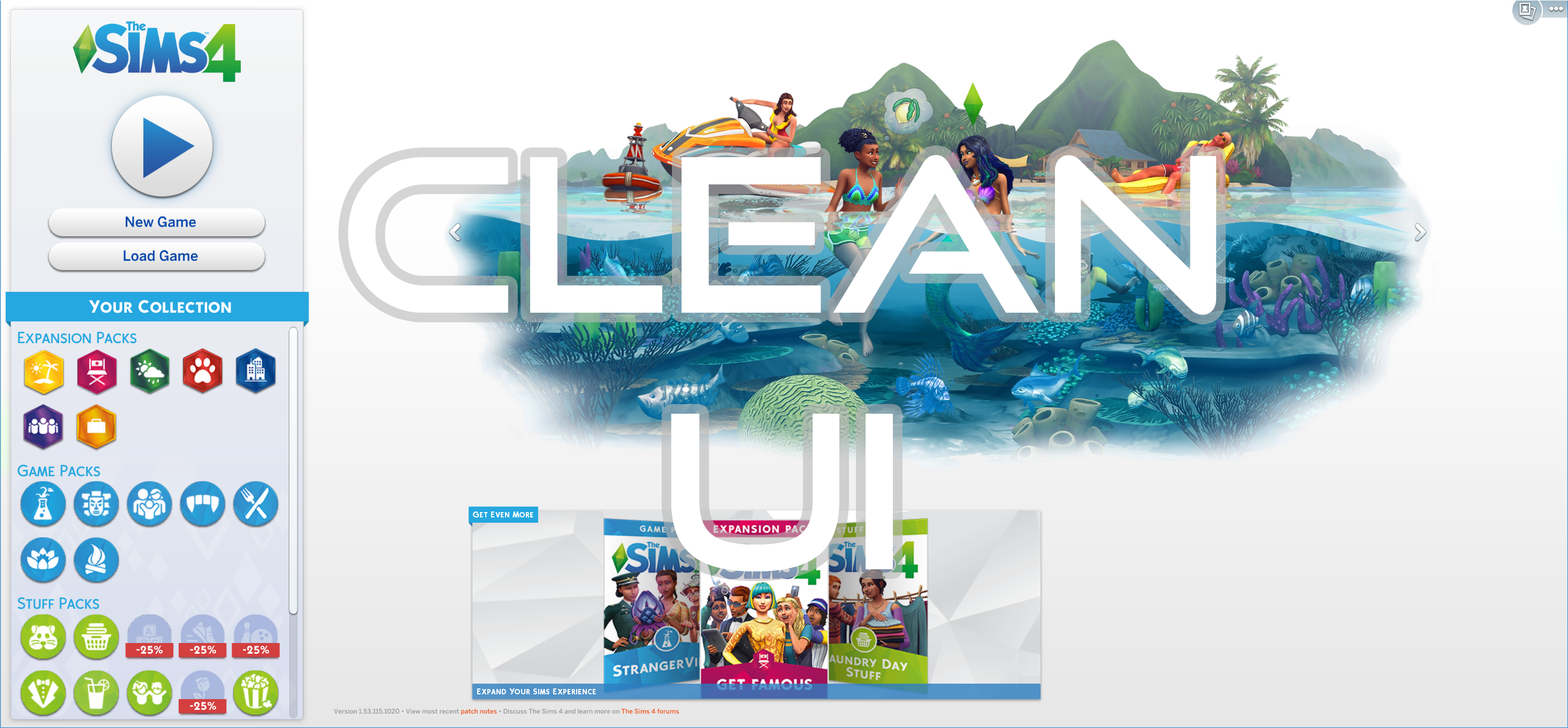 The Sims 4: Get Your Old Game Menu Back With the Clean UI